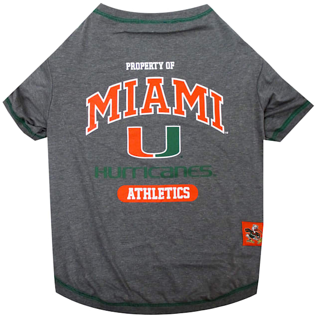 Pets First Miami Hurricanes NCAA T-Shirt for Dogs, X-Small - Carousel image #1