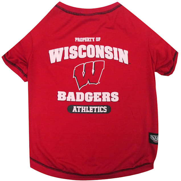 Pets First Wisconsin Badgers NCAA T-Shirt for Dogs, X-Small - Carousel image #1