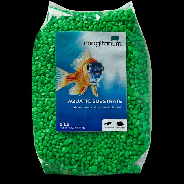 Imagitarium Neon Green Aquarium Gravel, 5 lbs - Carousel image #1