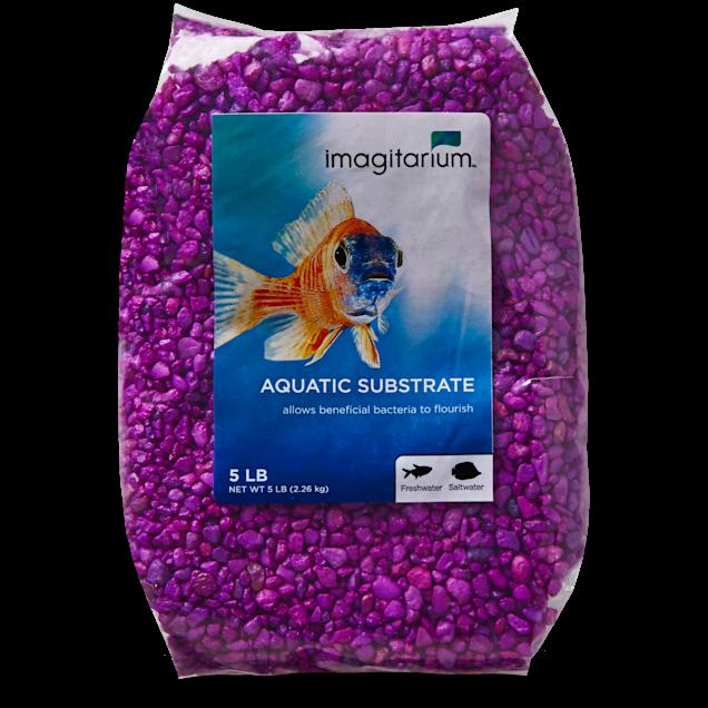 Imagitarium Neon Purple Aquarium Gravel, 5 lbs - Carousel image #1