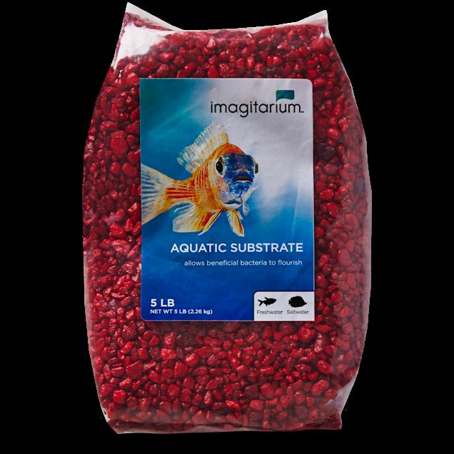 Imagitarium Strawberry Red Aquarium Gravel, 5 lbs - Carousel image #1