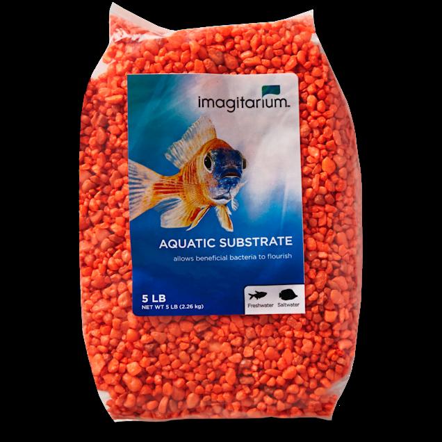 Imagitarium Orange Aquarium Gravel, 5 lbs - Carousel image #1