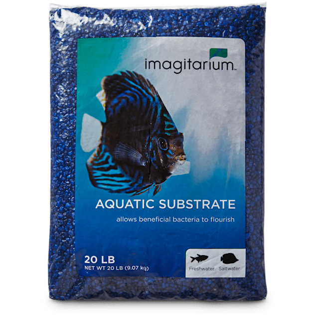 Imagitarium Dark Blue Aquarium Gravel, 20 LBS - Carousel image #1