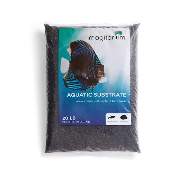 Imagitarium Frosted Black Aquarium Gravel, 20 LBS - Carousel image #1