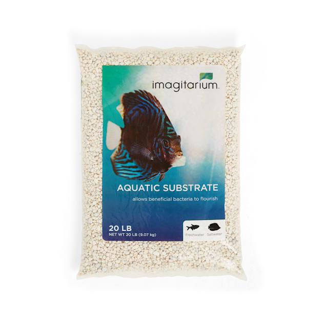 Imagitarium Mini White Aquarium Gravel, 20 LBS - Carousel image #1