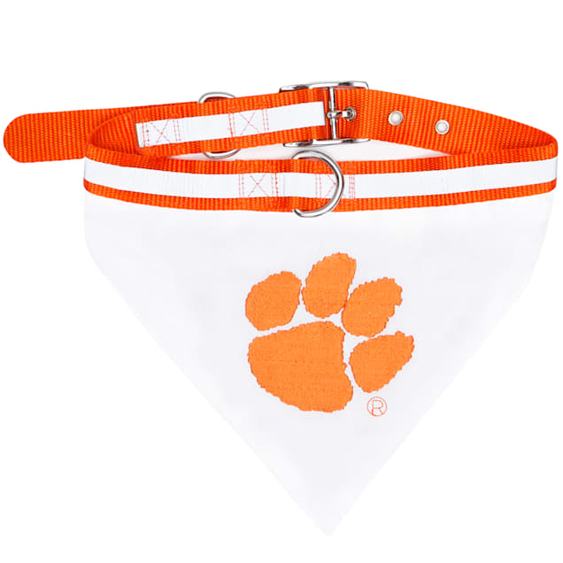 Pets First Clemson Tigers NCAA Dog Collar Bandana, Small - Carousel image #1