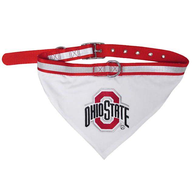 Pets First Ohio State Buckeyes NCAA Dog Collar Bandana, Small - Carousel image #1