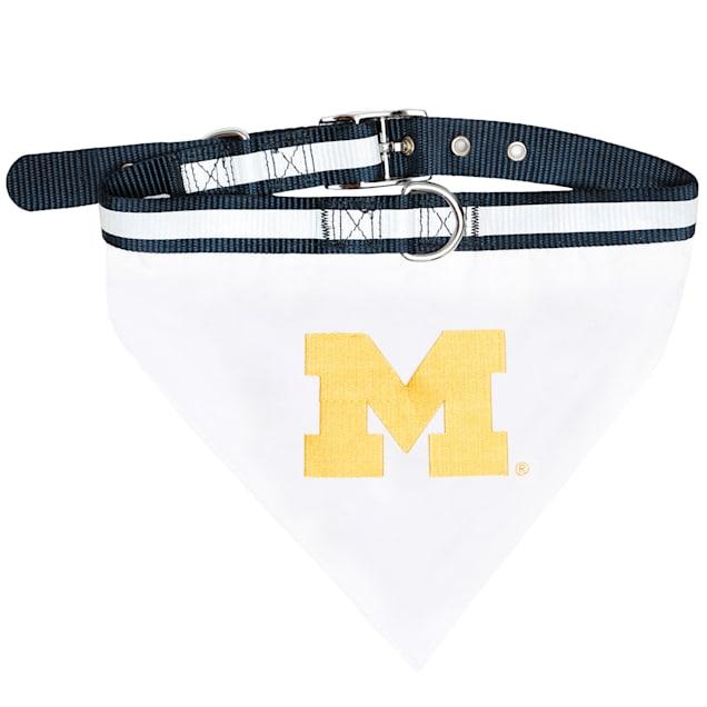 Pets First Michigan Wolverines NCAA Dog Collar Bandana, Small - Carousel image #1