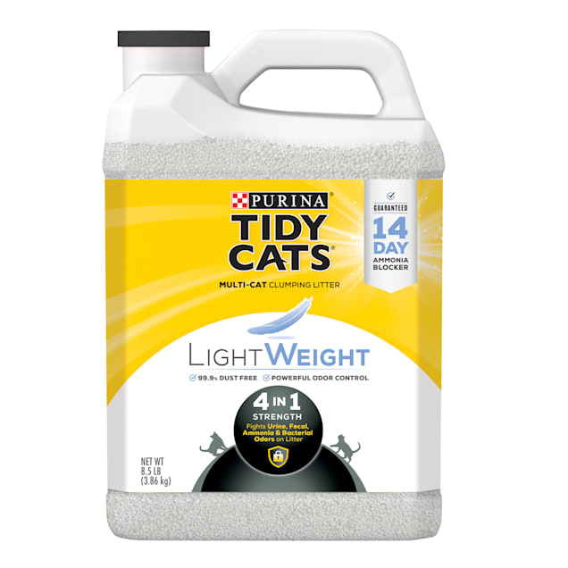 Tidy Cats LightWeight 4-in-1 Strength Dust Free Clumping Multi Cat Litter, 8.5 lbs. - Carousel image #1