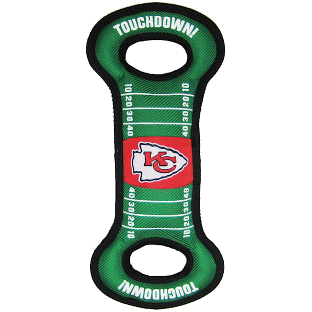 Pets First Kansas City Chiefs NFL Field Tug Dog Toy - Carousel image #1