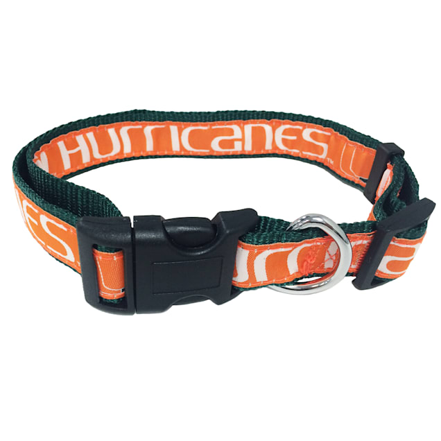 Pets First Miami Hurricanes NCAA Dog Collar, Small - Carousel image #1