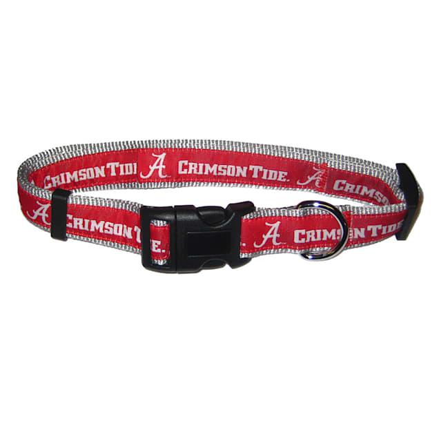 Pets First Alabama Crimson Tide NCAA Dog Collar, Small - Carousel image #1