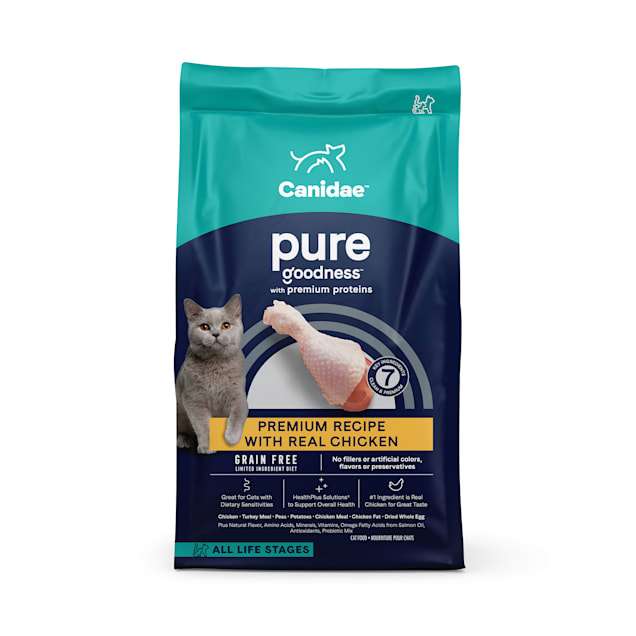 Canidae PURE Grain Free Limited Ingredient Chicken Dry Cat Food, 10 lbs. - Carousel image #1