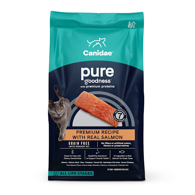 Canidae PURE Grain Free Limited Ingredient Salmon Dry Cat Food, 10 lbs. - Carousel image #1
