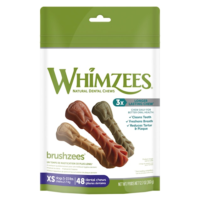 Whimzees X-Small Brushzees Dog Treats, 48 Pieces - Carousel image #1