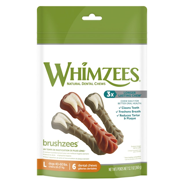 Whimzees Large Brushzees Dog Treats, 6 Pieces - Carousel image #1