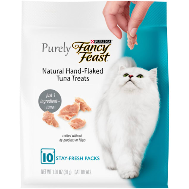 Fancy Feast Purely Natural Hand-Flaked Tuna Cat Treats, 1.06 oz., 10 Pack - Carousel image #1