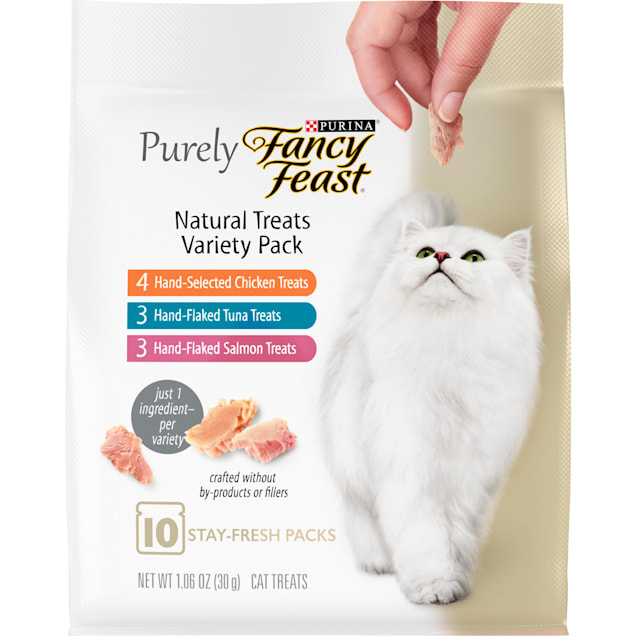 Purina Fancy Feast Purely Natural Cat Treats Variety Pack, 1.06 oz., Count of 10 - Carousel image #1
