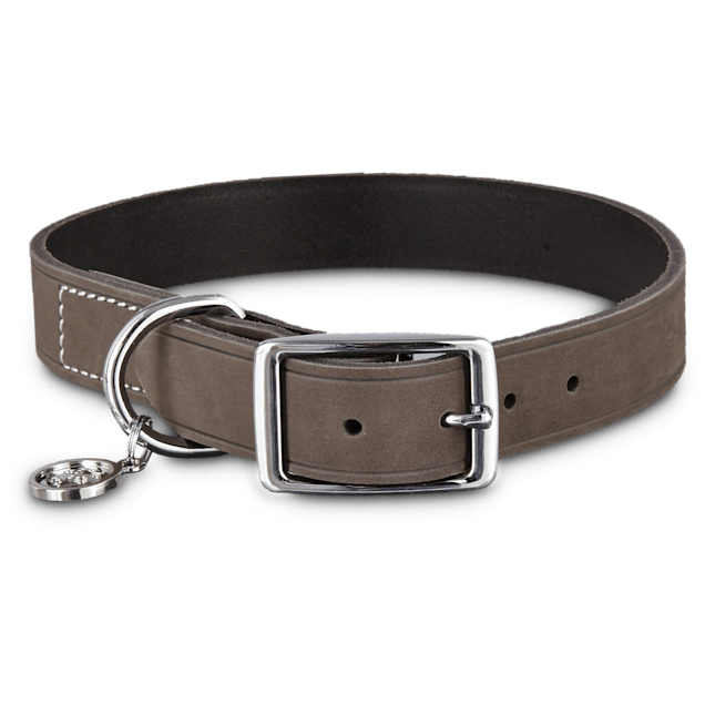 Bond & Co. Gray Suede Dog Collar, Large - Carousel image #1