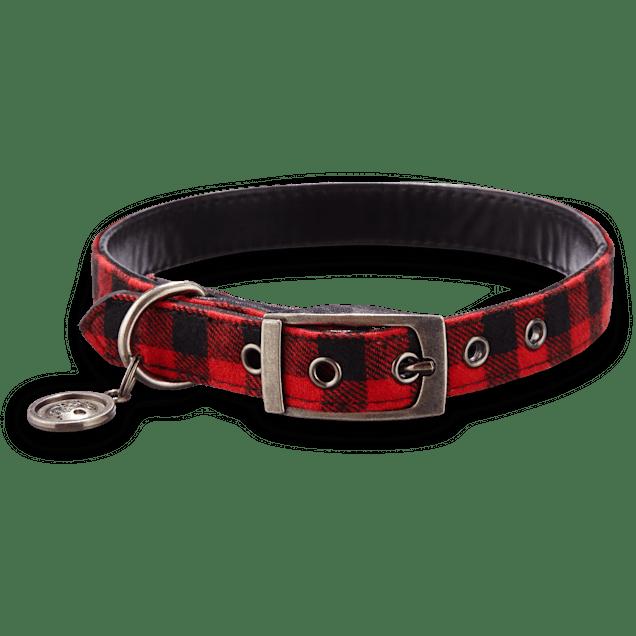 Bond & Co. Buffalo Checkered Dog Collar, For Neck Sizes 18-21, Large/Extra Large - Carousel image #1