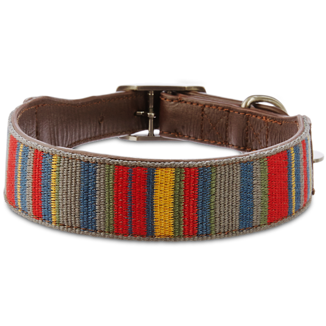Bond & Co. Multi-Stripe Dog collar, For Neck Sizes 18-21, Large/Extra Large - Carousel image #1