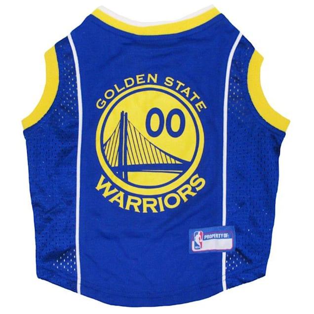 Pets First Golden State Warriors NBA Mesh Jersey, X-Small - Carousel image #1