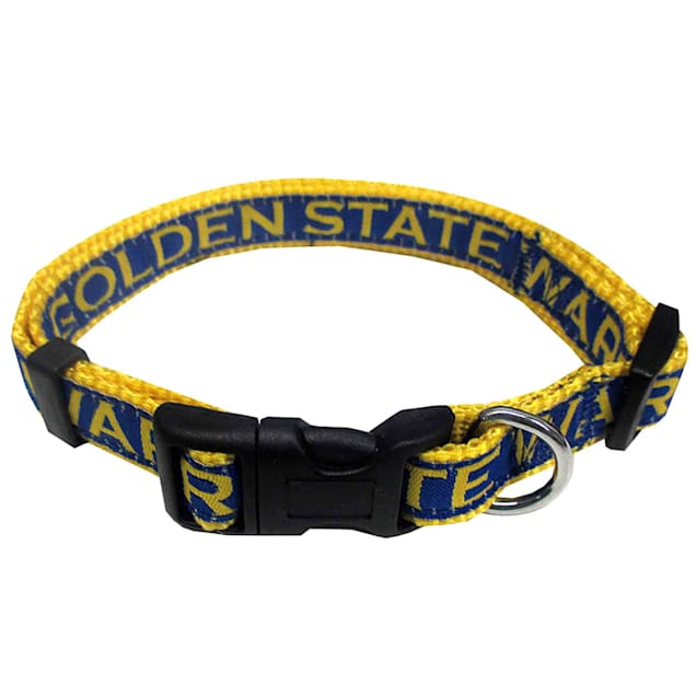 Pets First Golden State Warriors NBA Dog Collar, Small - Carousel image #1