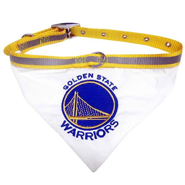 Pets First Golden State Warriors Pet Collar Bandana, Small - Carousel image #1