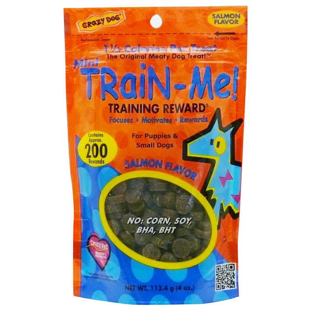 Crazy Dog Mini Train-Me! Salmon Dog Treats, 4 oz. - Carousel image #1