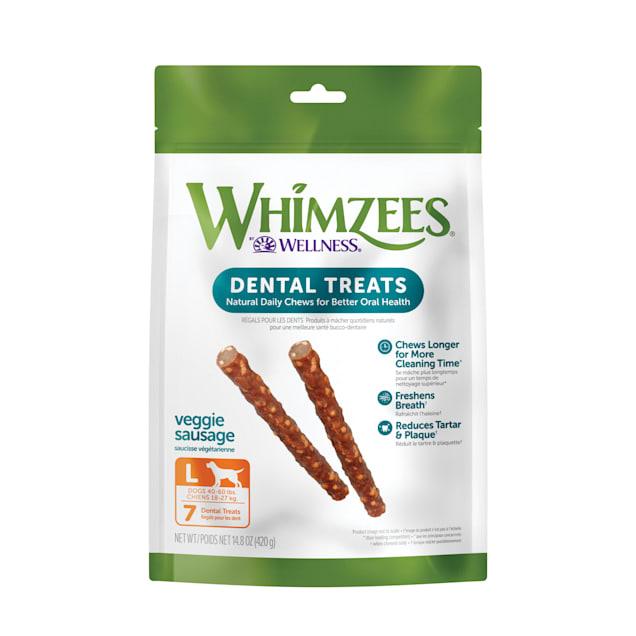 Whimzees Large Veggie Sausage Dog Treats, 7-count - Carousel image #1