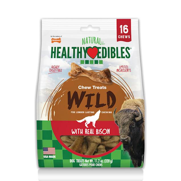 Nylabone Healthy Edibles Wild Bison Value Bag Dog Treats, 16 count - Carousel image #1