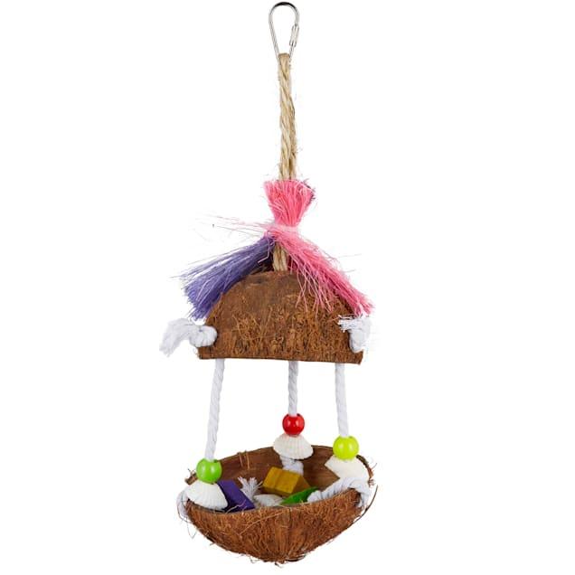 You & Me Tropical Teasers Tiki Hut Bird Toy - Carousel image #1
