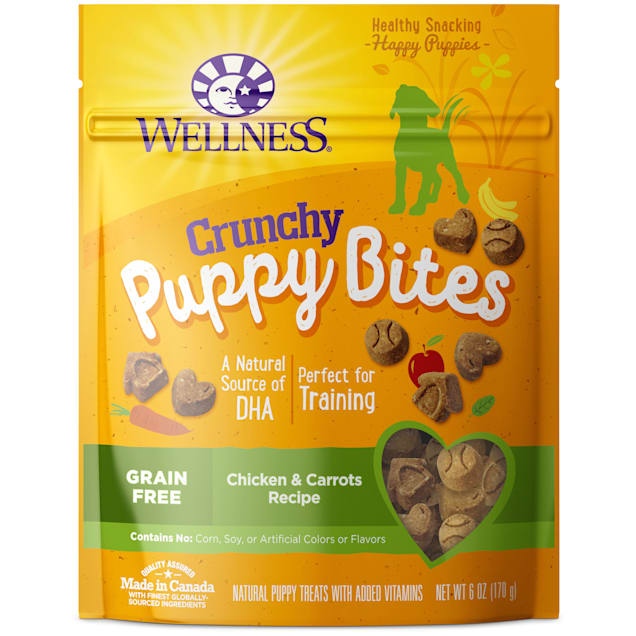 Wellness Complete Health Puppy Bites Natural Grain Free Chicken & Carrots Recipe Crunchy Treats, 6 oz. - Carousel image #1