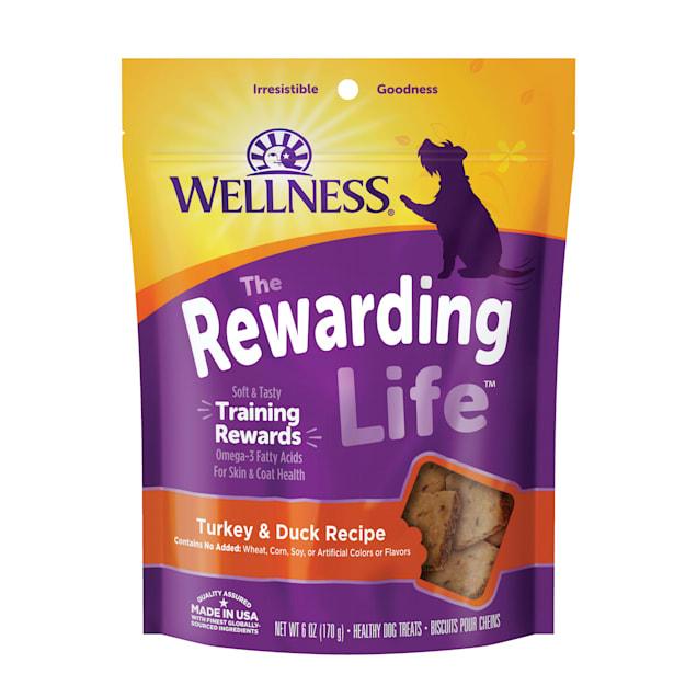 Wellness Natural Grain Free Wellbites Turkey & Duck Recipe Soft Dog Treats, 6 oz - Carousel image #1