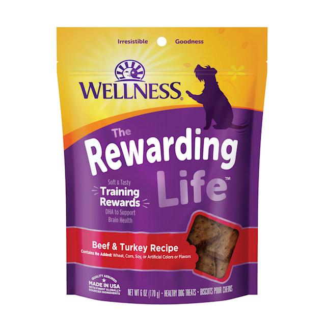 Wellness Natural Grain Free Wellbites Beef & Turkey Recipe Soft Dog Treats, 6 oz - Carousel image #1