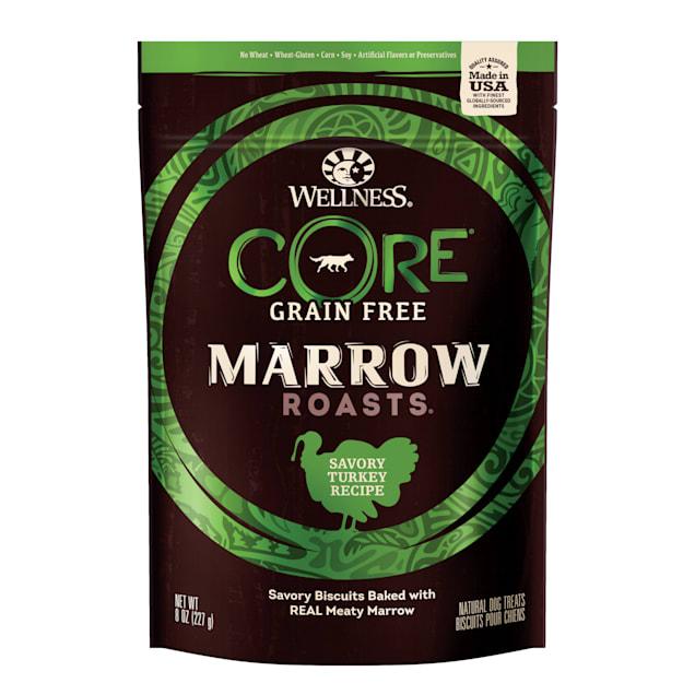 Wellness CORE Natural Grain Free Marrow Roasts Turkey Recipe Dog Treats, 8 oz - Carousel image #1