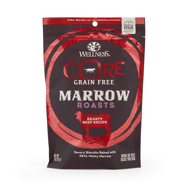 Wellness CORE Natural Grain Free Marrow Roasts Beef Recipe Dog Treats, 8 oz - Carousel image #1