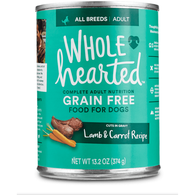 WholeHearted Grain Free Adult Lamb and Carrot Recipe Wet Dog Food, 13.2 oz., Case of 12 - Carousel image #1