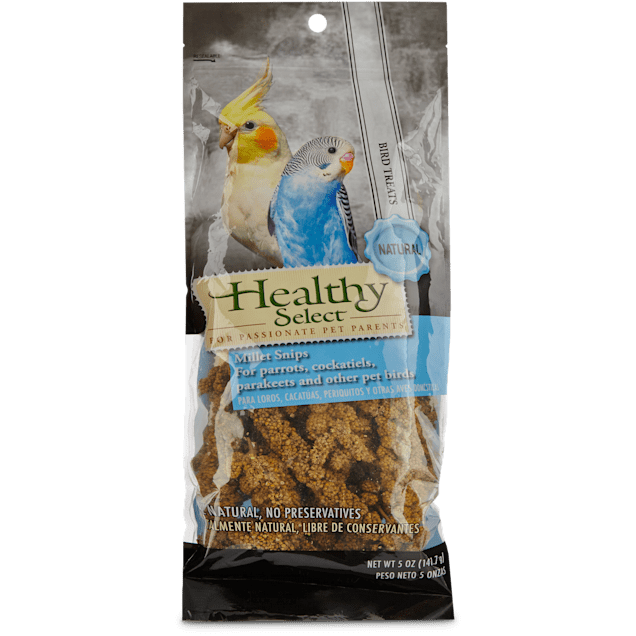 Healthy Select Millet Snips for Parrots, Cockatiels, Parakeets and Other Pet Birds, 5 oz. - Carousel image #1