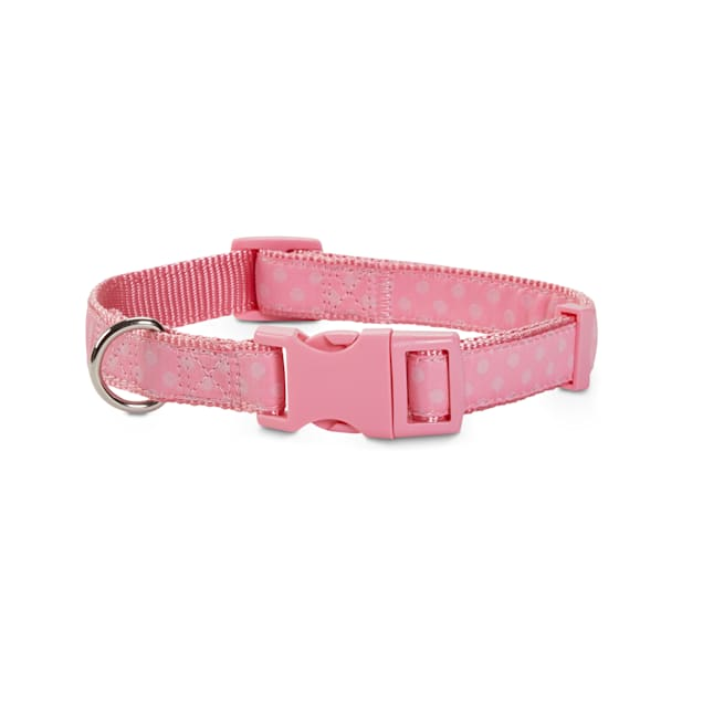 Good2Go Pink Polka Dot Dog Collar, Large - Carousel image #1