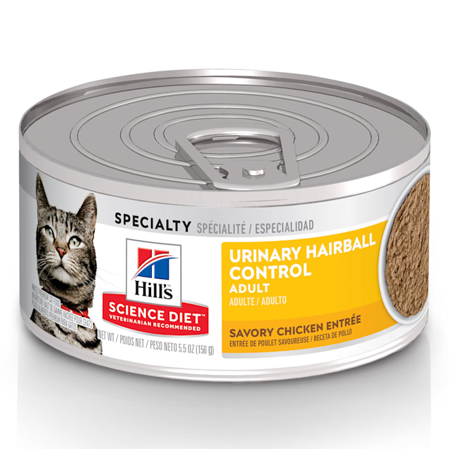 Hill's Science Diet Adult Urinary & Hairball Control, Savory Chicken Entree Canned Wet Cat Food, 5.5 oz., Case of 24 - Carousel image #1