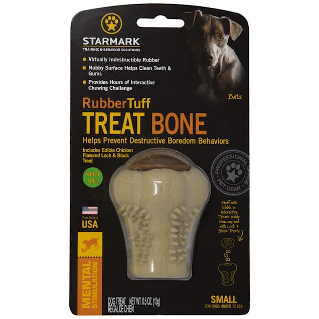 Starmark Rubber Tuff Bone, Small - Carousel image #1