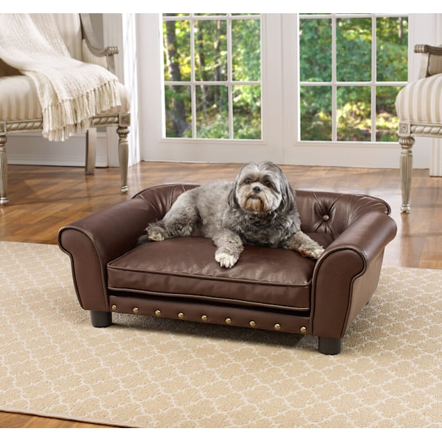 "Enchanted Home Pet Brown Brisbane Tufted Pet Bed, 33.5"" L x 21"" W - Carousel image #1"