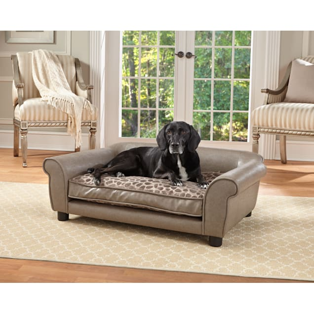"Enchanted Home Pet Pewter Rockwell Pet Sofa, 40.5"" L x 26"" W - Carousel image #1"