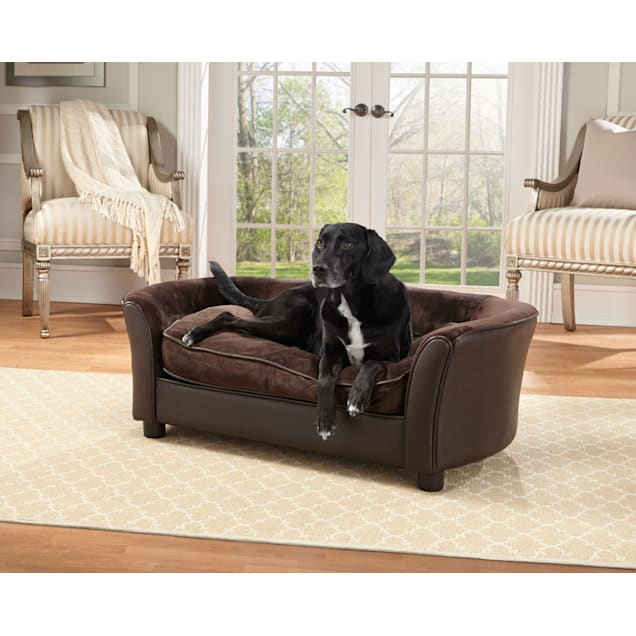 "Enchanted Home Pet Brown Ultra Plush Panache Pet Bed, 42"" L x 24"" W - Carousel image #1"