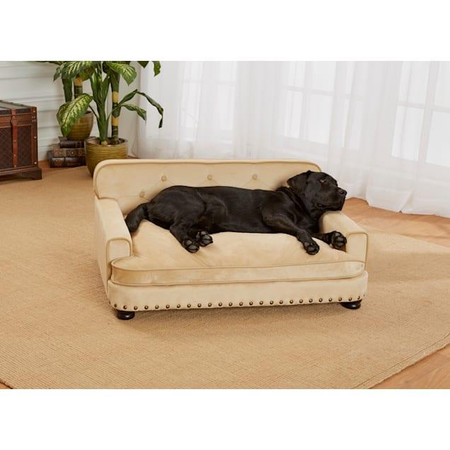 "Enchanted Home Pet Caramel Ultra Plush Library Pet Sofa, 40.5"" L x 30"" W - Carousel image #1"