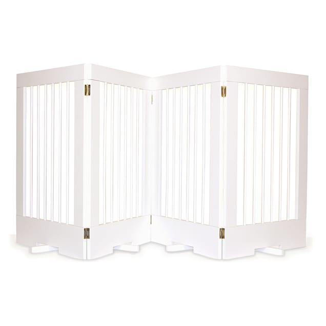 Cardinal Gates 4-Panel Freestanding Pet Gate, White - Carousel image #1