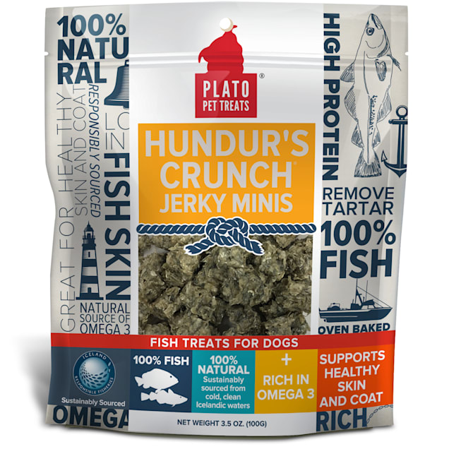 Plato Hundur's Crunch Jerky Minis Dog Treats, 3.5 oz. - Carousel image #1