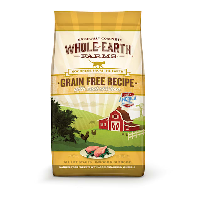 Whole Earth Farms Grain Free Real Chicken Adult Cat Food, 15 lbs. - Carousel image #1