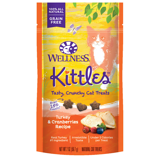 Wellness Kittles Grain Free Natural Cat Treats, Turkey and Cranberries, 2-Ounce Bag - Carousel image #1